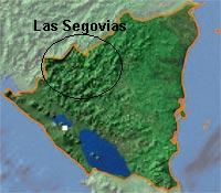 Map of Las Segovias